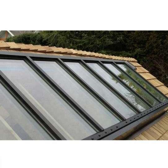 China WDMA Silver Single Pane Aluminium Roof Dome Windows
