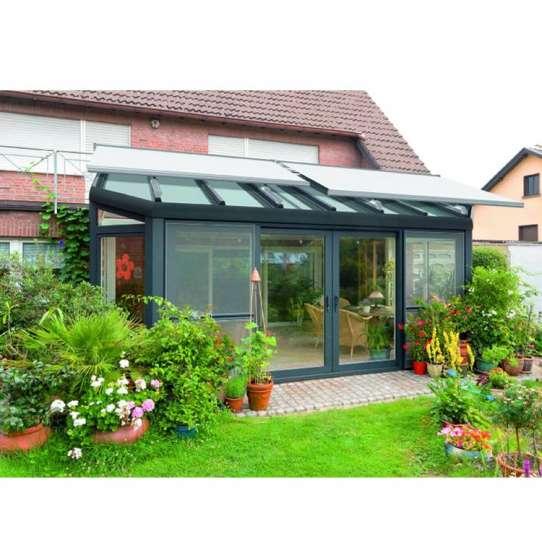 China WDMA Simple Design Aluminium Glass House Garden Room For Home