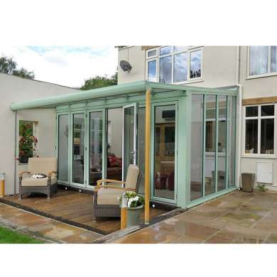 WDMA Simple Design Glass Sun room for house pool Factory Supplied White Color
