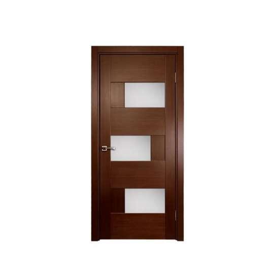 WDMA Simple Interior White Modern Plain Solid Teak Wood Wooden Bedroom Door Design Price