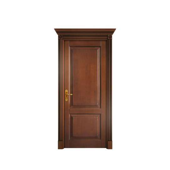 WDMA Simple Large Wooden Fire Rated Soundproof Double Main Entrance House Front Door With Window