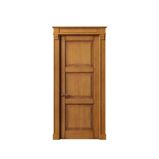 China WDMA Simple Large Wooden Fire Rated Soundproof Double Main Entrance House Front Door With Window