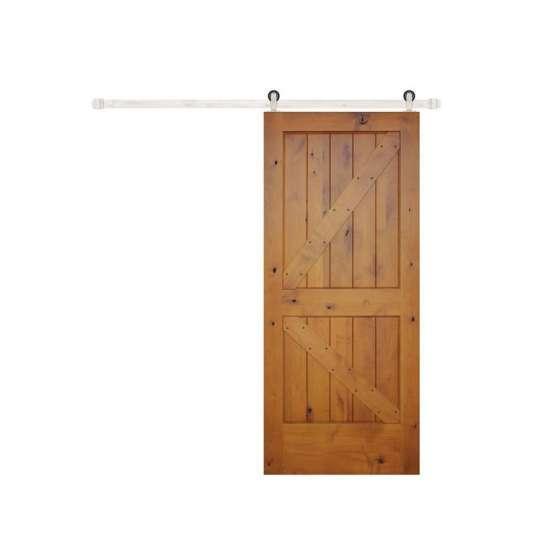 WDMA Simple Teak Wood Door Barn Designs For Sales