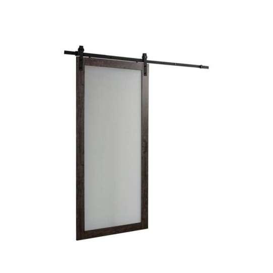 WDMA Sliding Double Wood Barn Door Glass Design Pure Teak Wood Door Pictures Price