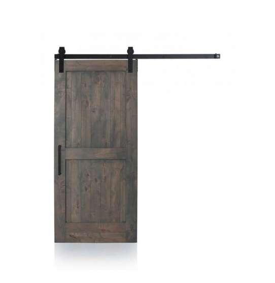 China WDMA Sliding Double Wood Barn Door Glass Design Pure Teak Wood Door Pictures Price