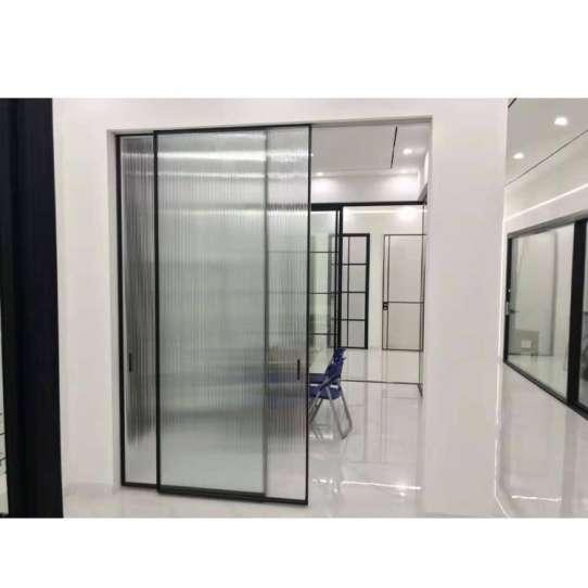 WDMA Slim Aluminium Toilet Bathtub Bathroom Frosted Glass Sliding Door Design