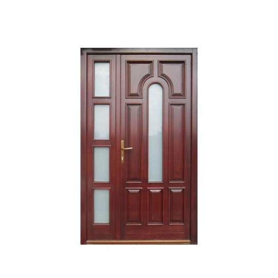 WDMA Solid Wood Flush Doors With Laminate Glass Designs