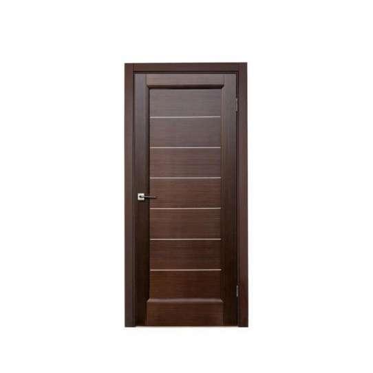 WDMA Solid Wooden Single Main Swing Door Design