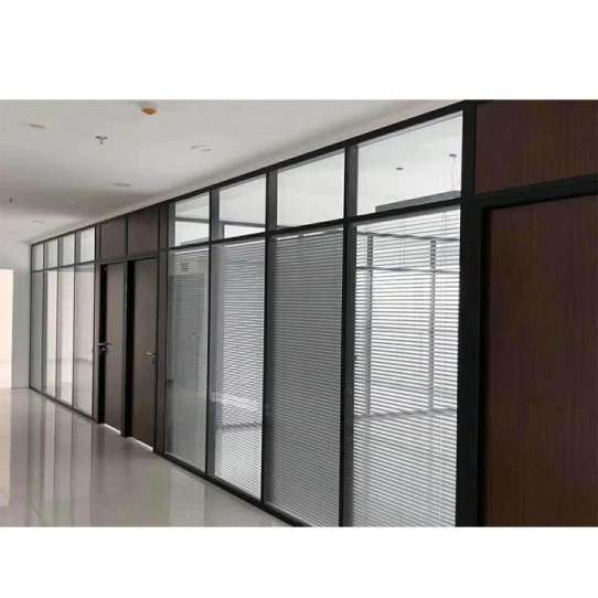 China WDMA Sound Proof Prefabricated Interior Hall And Dining Room Living Room Kitchen Lobby Banquet Office Glass Partition Wall Sy