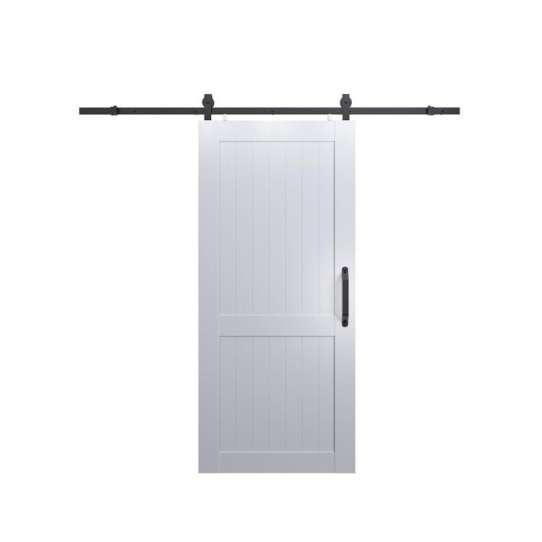 WDMA Soundproof Interior Shoji MDF Timber Glass Sliding Barn Door Room Dividers For Bathrooms