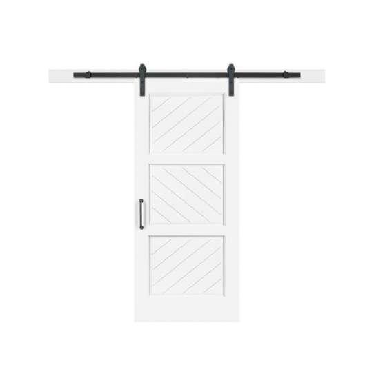 China WDMA Soundproof Interior Shoji MDF Timber Glass Sliding Barn Door Room Dividers For Bathrooms
