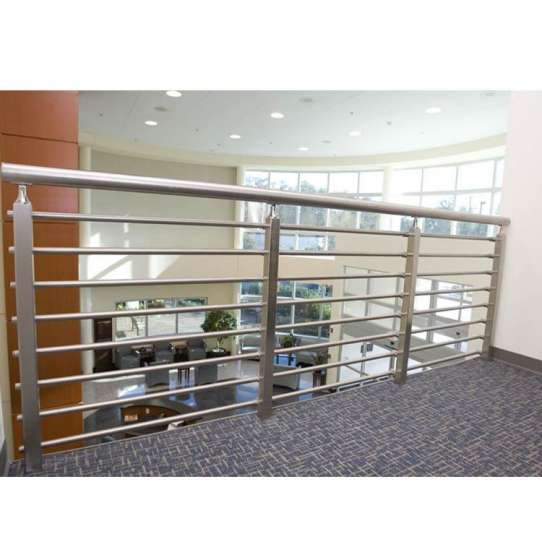 China WDMA Stainless Steel Pipe Tubular Handrail Design For Stair