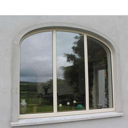 China WDMA half circle window Aluminum Fixed Window