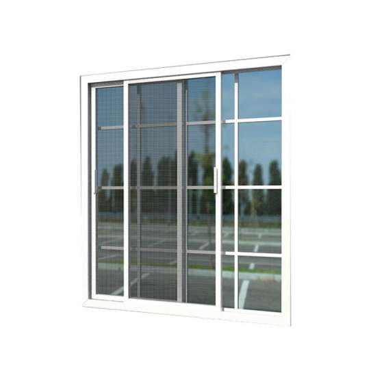 China WDMA Strong Frame Double Tempered Glass Sliding Window With Iron Window Grill Design For Sales