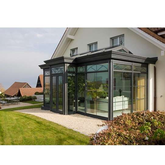 China WDMA Sunrooms Roof Panels Glass Houses With Tempered Glass Prices