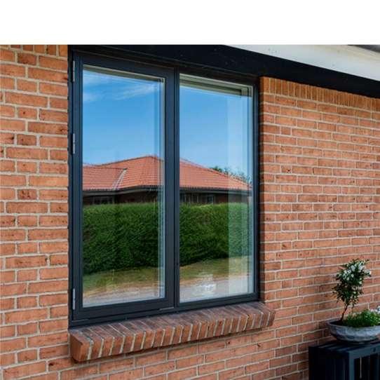 China WDMA Tempered Glass Alluminum Alloy Casement Window