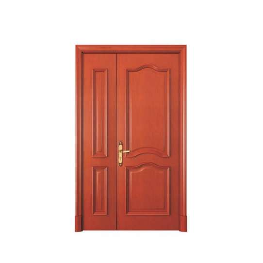 WDMA wooden double door round design Wooden doors