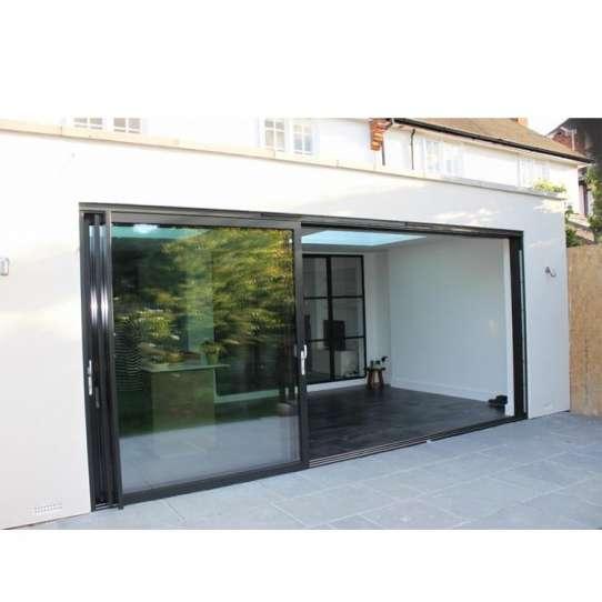 China WDMA three panel sliding glass door Aluminum Sliding Doors