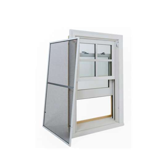 WDMA Two Panel Aluminium Top Hung Up And Down Double Hung Removable Sliding Windows For Balcony