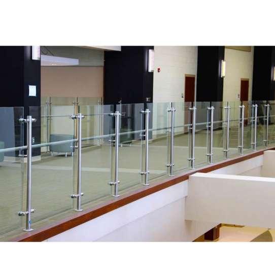 China WDMA U Channel Aluminium Frameless Glass Balcony Railing System Glass Aluminium Balustrade