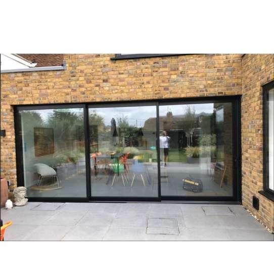 WDMA veranda aluminium sliding door grill design