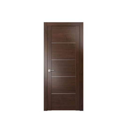 WDMA Walnut Solid Wood Door Modern Design For Entrance