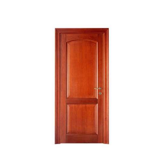 China WDMA Walnut Solid Wood Door Modern Design For Entrance