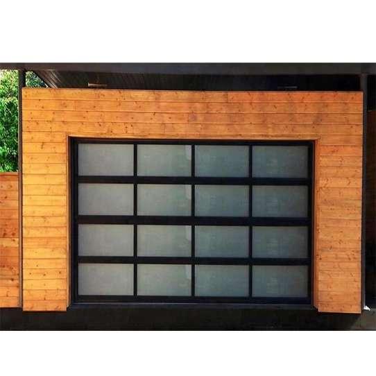 WDMA Waterproofing Sandwich Panel Sectional Bi Folding Accordion rollup Glass Garage Door Swift Garage Door Systems prices