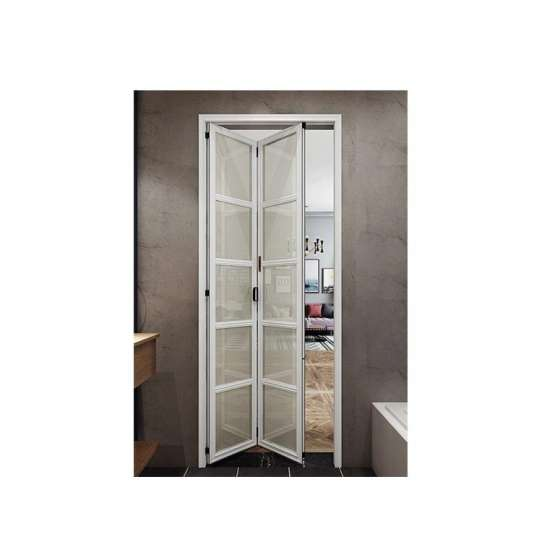WDMA White Aluminium Accordion Folding Slide Sliding Door For Bathroom Price