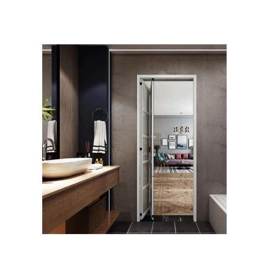 China WDMA White Aluminium Accordion Folding Slide Sliding Door For Bathroom Price