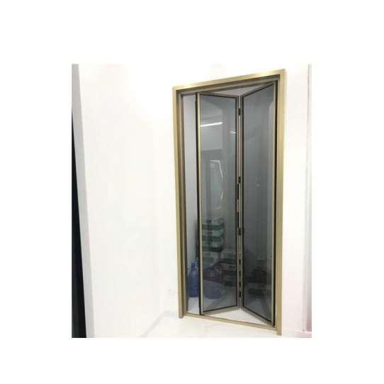 China WDMA folding slide door bathroom Aluminum Folding Doors