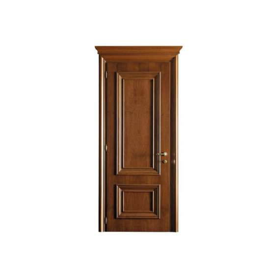 China WDMA White Colors MDF Veneer Interior Swing Solid Laminated Polish Wood Home Door With Glass Insert Flower Design