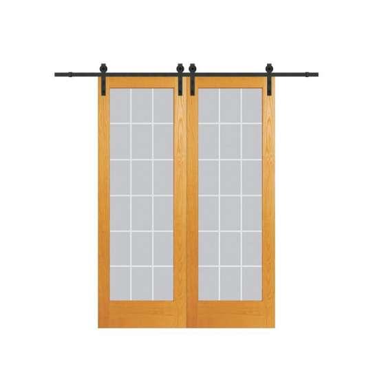 WDMA mirrored barn door Wooden doors