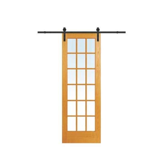 China WDMA mirrored barn door Wooden doors
