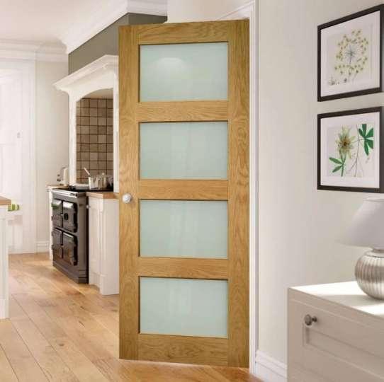 WDMA Wood Glass Swing Door Hinge Door Design