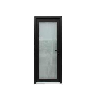 WDMA Wooden Frame Aluminum Half Glass Hinged Doors