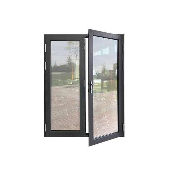 WDMA Wooden frame hinged doors Aluminum Hinged Doors