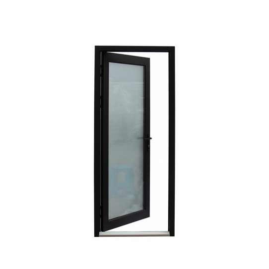 China WDMA Wooden Frame Aluminum Half Glass Hinged Doors