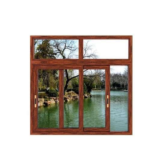 China WDMA wooden sliding window grill design Aluminum Sliding Window